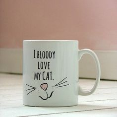 'love my cat' ceramic mug by kelly connor designs knitting bags and gifts | notonthehighstreet.com love this!