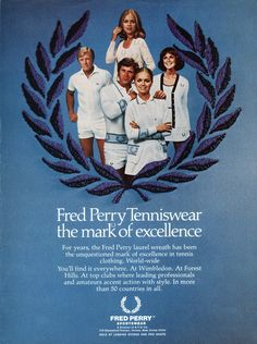 Advertising for Fred Perry tenniswear
