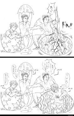 Daisuga, Iwaoi, Kagehina, Kuroo, Haikyuu Manga, Haikyuu Funny, All Anime, Anime Manga, Haikyuu Volleyball