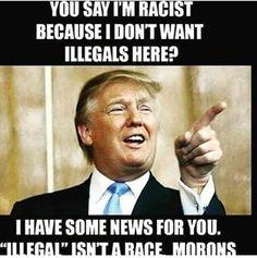 Illegals aren't a race