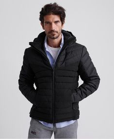 Shop Superdry Mens Tweed Mix Fuji Jacket in Jet Black. Buy now with free delivery from the Official Superdry Store. Superdry Jackets, Superdry Mens, Puffer Jackets, Winter Jackets, Tweed, Fuji, Chino Joggers, Black Puffer Vest, Man Icon
