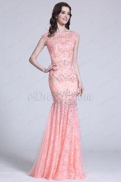 Flügelärmel Rosa Abendkleid mit Perlen Details (C36151701) #edressit #kleid #dress #perlen #beadings #abendkleid #eveningdress #fashion #promdress