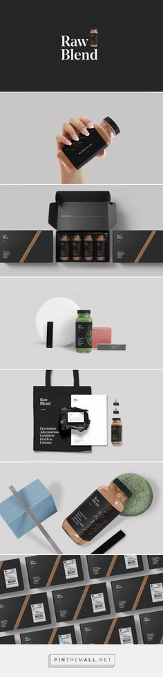 Raw Blend on Behance - visual identity, product, packaging, brand design, branding