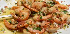 Prawns with Garlic Butter & Crispy Prosciutto