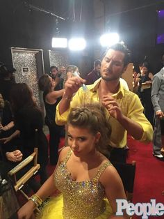 Getting ready! Week 5 on Dancing With The Stars (Val and Bindie)