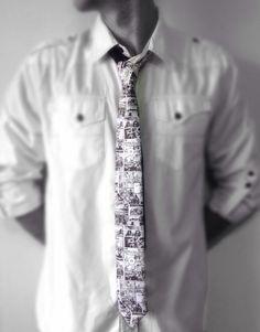 The Walking Dead Fan Collage Skinny Tie on Etsy, $33.00