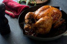 Salt-and-Pepper roast chicken. Very easy recipe!