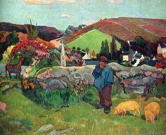 "Paul Gauguin ""Swineherd"""