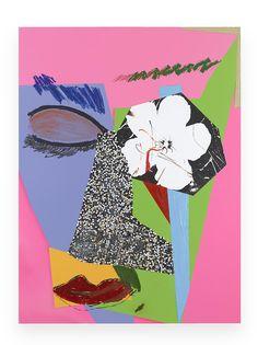 MICKALENE THOMAS Untitled #10, 2014 acrylic, oil paint, glitter, rhinestones, oil pastel, dry pastel