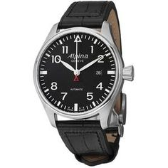 Alpina Geneve Startimer is a watch truly made for the aviators. It is not bulky by any stretch, but it does have a lot of heft. The watch strap is made of high-quality leather.