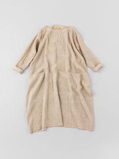 merchant and mills - beige linen smock