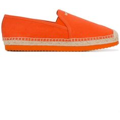 Michael Michael Kors classic espadrilles (205 CAD) ❤ liked on Polyvore featuring shoes, sandals, orange, orange sandals, orange espadrilles, espadrille shoes, michael michael kors and espadrille sandals