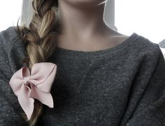 Pretty hair bows and ballerina pink and grey.