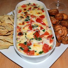 Hot caprese dip, this recipe is wonderful...all about the dip!