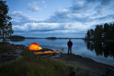 Kayaker´s camp (Finland), by Markus Sirkka