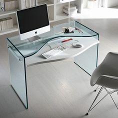 escritorio cristal Strata   Tiendas On