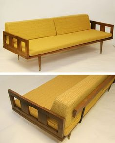 """Modern Furniture Jakarta mid century modern daybed with arms (""""executive daybed"""") 