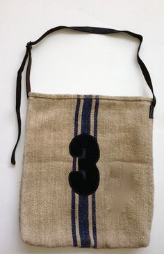 Grain Sack Tote Bag with canvas '3' by Uberchichome on Etsy, $115.00 20x18 Military Belt, Sack Bag, Grain Sack, Grains, Reusable Tote Bags, Uber, Chic, Trending Outfits, Canvas