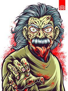 MAD SCIENTIST | Einsteins Zombie on Behance