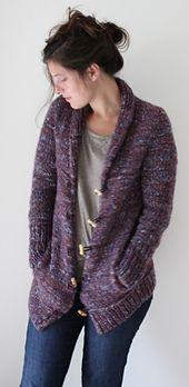 Campus Jacket, bulky yarn ,Ravelry $7.00