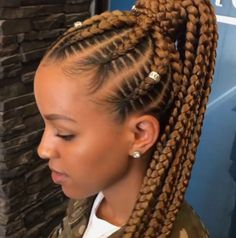 85 Box Braids Hairstyles for Black Women - Hairstyles Trends Box Braids Hairstyles, Black Girl Braided Hairstyles, Easy Hairstyles For Medium Hair, Black Women Hairstyles, Winter Hairstyles, Natural Hair Care, Natural Hair Styles, Hair Cute, Short Hair Styles Easy