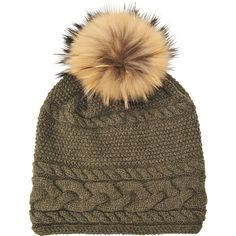 ae3ed9520eb Inverni Long beanie in cable knit cashmere wool ( 195) ❤ liked on Polyvore  featuring