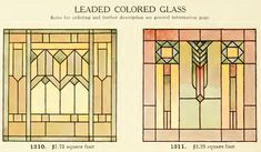 Leaded Glass from International Art Glass Catalogue by National Ornamental Glass Manufacturers Association of the United States and Canada, published in Stained Glass Church, Faux Stained Glass, Stained Glass Designs, Stained Glass Panels, Stained Glass Patterns, Leaded Glass, Glass Art Pictures, Color Pictures, Art Nouveau