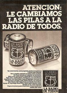 Radio RIVADAVIA, Buenos Aires, década del 70.