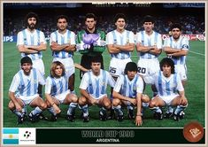 Fan pictures - 1990 FIFA World Cup Italy. Argentina Team, Argentina National Team, World Cup Teams, Fifa World Cup, Retro Football, Fan Picture, Italy, Israel, Pictures