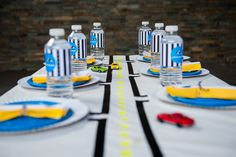 LETTUCE & CO - STYLE. EAT. PLAY. vroom...now what little boy doesn't love cars?! sharp and modern race car party, table art, road and street tablescape, event styling