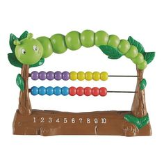 Learning Resources Counterpillar Abacus, Multicolor