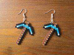 Perler Beads, Perler Bead Art, Perler Earrings, Bead Earrings, Weird Jewelry, Funky Jewelry, Cute Jewelry, Nerd Gifts, Gamer Gifts