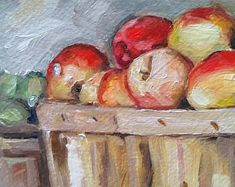 Red Apples by MariaTepperPaintings on Etsy Red Apple, Natural Light, Apples, Art Pieces, Etsy Seller, Paintings, Paint, Artworks, Painting Art