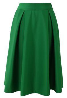 Gorgeous Green Midi skirt