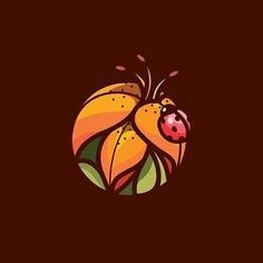 Lily bug design made by @cpuentesdesign  #logoplace #graphicdesign #creativity…