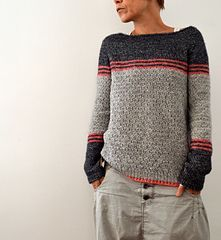 I'm pinning this here because it's beyond my knitting skills, but I love the look of the sweater.