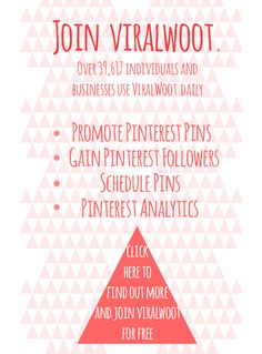 with Viralwoot you can gain pinterest followers and much more. Great free marketing tool worth checking out,