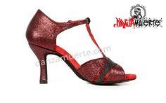 Latin Dance Shoes S-1008 Premium Siren series! Available in Red/Black color.  Buy Now: http://danzamuerte.com/go/s-1008-premium