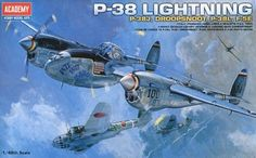 Lockheed P-38J Lightning, with alternative parts for P-38J Droopsnoot, P-38L Lightning Pathfinder and F-5E Photo Recon. Academy, 1/48, injection, No.12282. Price: 18,99 GBP.