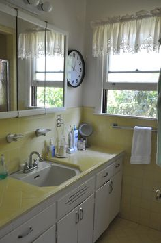 197 Best Gray Yellow Bathroom Ideas Images Little Cottages