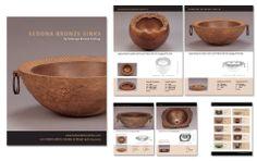 Sales folder for Sedona Bronze Sinks Sinks, Design Projects, Serving Bowls, Bronze, Tableware, Art, Art Background, Dinnerware, Sink Units