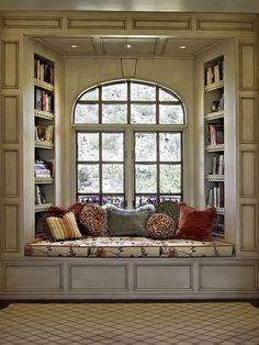 Bookshelves bed nook