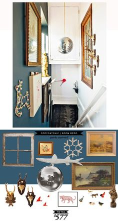 A quirky stairway for only $577 #roomredo recreated by @lindseyboyer