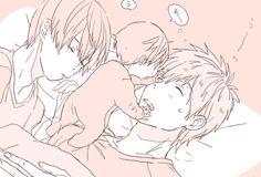 Makoto and Haru Haru And Makoto, Makoharu, Makoto Tachibana, Free Eternal Summer, Free Iwatobi Swim Club, Free Anime, Cute Family, Anime Ships, Anime Couples