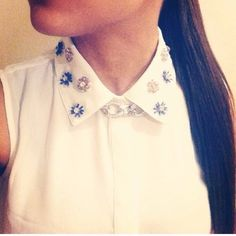 NWT White Sleeveless Jeweled Collar Top Never worn! Beautiful button up top that will make a statement with the jewels on the collar. ❌NO TRADES OR PAYPAL❌PRICE IS FIRM EVEN IF BUNDLED Forever 21 Tops