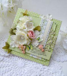 Купить открытка «Дорога с чудесами» - зеленый, белый, молочный, бабочки, открытка для женщины, открытка для девушки