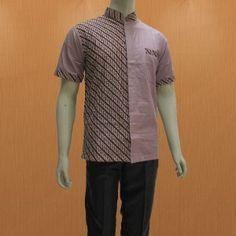 Pilihan keren baju batik pria terbaru model hem batik pria lengan pendek  modern e75ef9c6c1