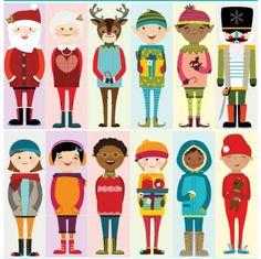 Printable Christmas characters that you fold and turn into DIY blocks. So fun for kids!