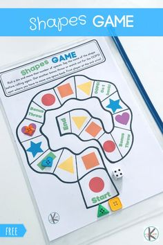 FREE Shapes Game Help young learners practice identifying shapes with this fun, FREE printable Shapes game for preschool, pre k, kindergarten, and grade students. Shape Games For Kids, Shapes For Kids, Free Games For Kids, Free Shapes, Free Preschool Games, Preschool Shapes, Preschool Printables, Preschool Ideas, School Age Activities