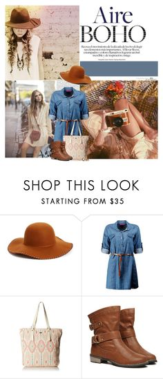 """Bohemian"" by colierollers ❤ liked on Polyvore featuring Oris, Phase 3, Boohoo, Roxy and WithChic"